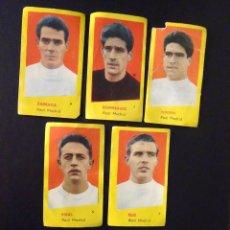 Coleccionismo deportivo: LOTE DE 5 CROMOS DE FUTBOL DEL REAL MADRID. Lote 263302600