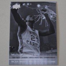 Coleccionismo deportivo: CROMO MICHAEL JORDAN.NCAA MARCH MADNESS COLECCTION. UPPER DECK NORTH CAROLINE. Lote 263545995