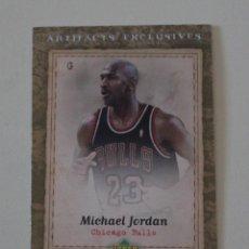 Coleccionismo deportivo: CROMO MICHAEL JORDAN UPPER DECK ARTIFACTS EXCLUSIVES. CHICAGO BULLS. NBA.. Lote 263548860