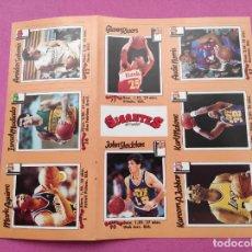 Coleccionismo deportivo: LAMINA 8 PEGATINAS COLECCION REVISTA GIGANTES DEL BASKET CROMOS NBA STICKERS SABONIS ABDUL JABBAR. Lote 264234344