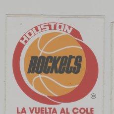 Coleccionismo deportivo: LOTE B-PEGATINA BALONCESTO NBA ROCKETS BASKET. Lote 265201499