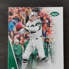 Colecionismo desportivo: PANINI PLAYOFF 2020 #25 JOE NAMATH NEW YORK JETS NFL CARD. Lote 265966878