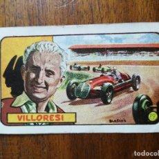 Coleccionismo deportivo: CROMO DE LOS AÑOS 50 DE LUIGI GIGI VILLORESI ( SCUDERIA FERRARI ) - PILOTO FÓRMULA 1. Lote 266310283