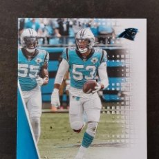 Colecionismo desportivo: PANINI PLAYOFF 2020 #144 BRIAN BURNS CAROLINA PANTHERS NFL CARD. Lote 266372613