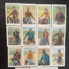 Coleccionismo deportivo: COLECCIÓN COMPLETA DE 15 CROMOS (MOTORISMO - MOTOS) COLECCIONES AMATLLER. Lote 266647533