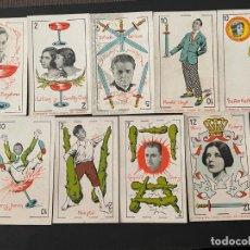 Coleccionismo deportivo: LOTE DE 9 CROMOS - NAIPES (CARTAS) CHOCOLATES ORTHI. Lote 266848219