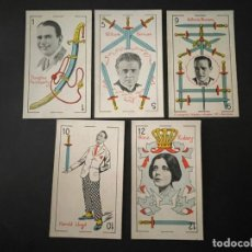 Coleccionismo deportivo: LOTE DE 5 CROMOS - NAIPES (CARTAS) - ESPADAS - CHOCOLATES ORTHI. Lote 266848564