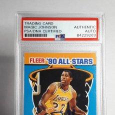 Coleccionismo deportivo: LOTE NBA MAGIC JOHNSON PSA AUTOGRAFO + FLEER ALL STARS 1988 123. Lote 266936699