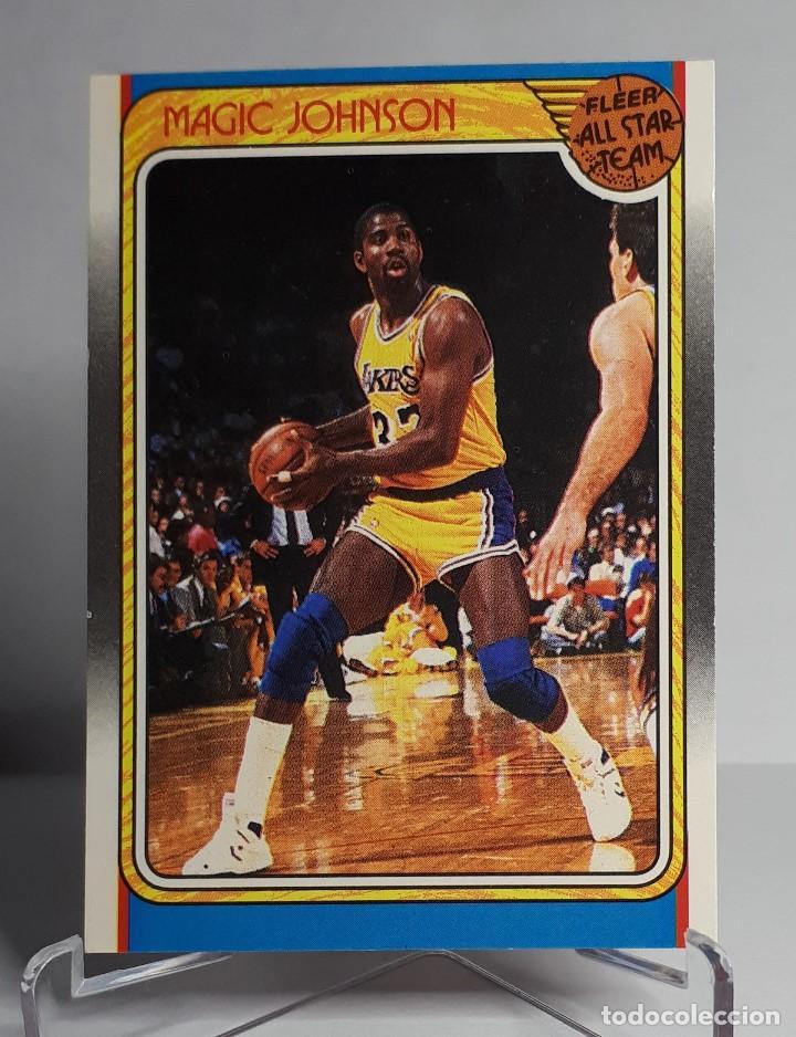 Coleccionismo deportivo: LOTE NBA MAGIC JOHNSON PSA AUTOGRAFO + FLEER ALL STARS 1988 123 - Foto 2 - 266936699