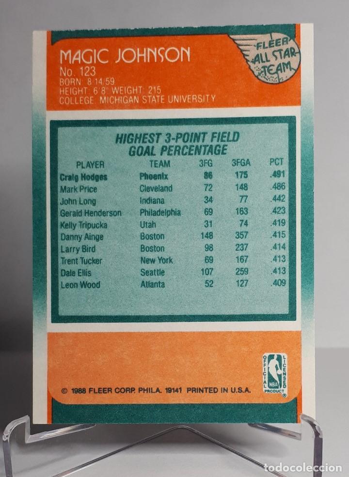 Coleccionismo deportivo: LOTE NBA MAGIC JOHNSON PSA AUTOGRAFO + FLEER ALL STARS 1988 123 - Foto 3 - 266936699