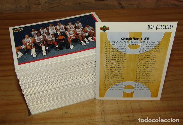 LOTE DE 169 CROMOS NBA 1992 UPPER DECK - TODOS DIFERENTES - JORDAN, RODMAN, PIPPEN, BARKLEY, MAGIC (Coleccionismo Deportivo - Cromos otros Deportes)