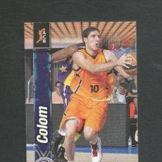 Coleccionismo deportivo: CROMO BALONCESTO FICHAS LIGA ACB 10/11 Nº41 COLOM - BALONCESTO FUENLABRADA. Lote 267543574