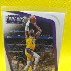 Coleccionismo deportivo: LEBRON JAMES 47 NBA PANINI THREADS 2018-19 LOS ANGELES LAKERS. Lote 269002084