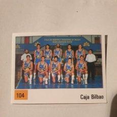 Coleccionismo deportivo: CROMO ALBUM PANINI BASKET 90 LIGA ACB Nº 104 PLANTILLA (CAJA BILBAO) BALONCESTO 1990 SIN PEGAR. Lote 269982858