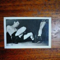 Coleccionismo deportivo: ROCKY GRAZIANO ( USA ) - TONY ZALE ( USA ) - 1948 CHICLES TABAY - SIN PEGAR PERFECTO BOXEO. Lote 276498298