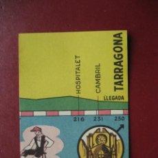 Coleccionismo deportivo: CROMO CICLISMO - Nº 62 VALENCIA TARRAGONA - LA VUELTA CICLISTA A ESPAÑA 1956 - EDITORIAL FHER. Lote 277148838