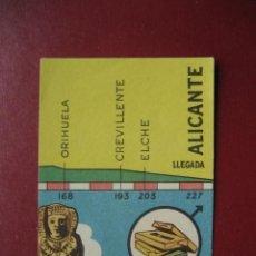 Coleccionismo deportivo: CROMO CICLISMO - Nº 46 ALBACETE ALICANTE - LA VUELTA CICLISTA A ESPAÑA 1956 - EDITORIAL FHER. Lote 277149583