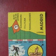 Coleccionismo deportivo: CROMO CICLISMO - Nº 28 VALLADOLID MADRID - LA VUELTA CICLISTA A ESPAÑA 1956 - EDITORIAL FHER. Lote 277150098