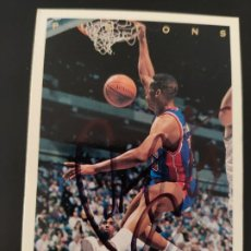 Coleccionismo deportivo: CROMO FIRMADO DE DENNIS RODMAN CON AUTÓGRAFO, NBA DETROIT PISTONS, CHICAGO BULLS, UPPER DECK 1994. Lote 278485893