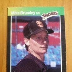 Coleccionismo deportivo: CROMO - NÚMERO 302 - MLB - LIGA MAYOR DE BEISBOL - DONRUSS, AÑO 1989 - MIKE BRUMLEY. Lote 278636183
