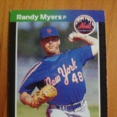 Coleccionismo deportivo: CROMO - NÚMERO 336 - MLB - LIGA MAYOR DE BEISBOL - DONRUSS, AÑO 1989 - RANDY MYERS. Lote 278636333