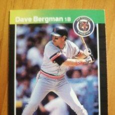 Coleccionismo deportivo: CROMO - NÚMERO 389 - MLB - LIGA MAYOR DE BEISBOL - DONRUSS, AÑO 1989 - DAVE BERGMAN. Lote 278636393