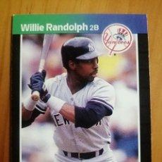 Coleccionismo deportivo: CROMO - NÚMERO 395 - MLB - LIGA MAYOR DE BEISBOL - DONRUSS, AÑO 1989 - WILLIE RANDOLPH. Lote 278637278