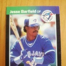 Coleccionismo deportivo: CROMO - NÚMERO 425 - MLB - LIGA MAYOR DE BEISBOL - DONRUSS, AÑO 1989 - JESSE BARFIELD. Lote 278637333