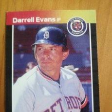 Coleccionismo deportivo: CROMO - NÚMERO 533 - MLB - LIGA MAYOR DE BEISBOL - DONRUSS, AÑO 1989 - DARRELL EVANS. Lote 278637923
