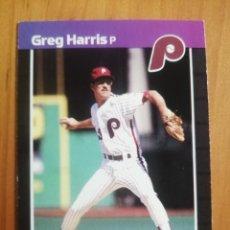 Coleccionismo deportivo: CROMO - NÚMERO 548 - MLB - LIGA MAYOR DE BEISBOL - DONRUSS, AÑO 1989 - GREG HARRIS. Lote 278637983