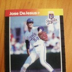 Coleccionismo deportivo: CROMO - NÚMERO 558 - MLB - LIGA MAYOR DE BEISBOL - DONRUSS, AÑO 1989 - JOSE DEJESUS. Lote 278638103