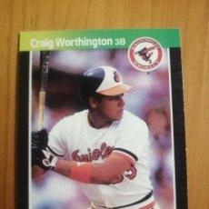 Coleccionismo deportivo: CROMO - NÚMERO 569 - MLB - LIGA MAYOR DE BEISBOL - DONRUSS, AÑO 1989 - CRAIG WORTHINGTON. Lote 278638188
