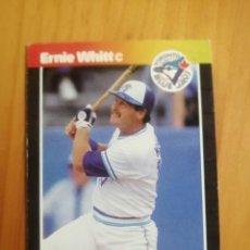 Coleccionismo deportivo: CROMO - NÚMERO 591 - MLB - LIGA MAYOR DE BEISBOL - DONRUSS, AÑO 1989 - ERNIE WHITT. Lote 278638313