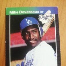 Coleccionismo deportivo: CROMO - NÚMERO 603 - MLB - LIGA MAYOR DE BEISBOL - DONRUSS, AÑO 1989 - MIKE DEVEREAUX. Lote 278639088