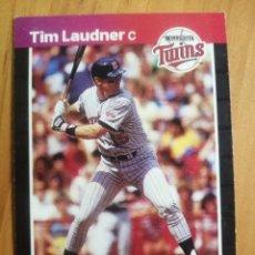 Coleccionismo deportivo: CROMO - NÚMERO 615 - MLB - LIGA MAYOR DE BEISBOL - DONRUSS, AÑO 1989 - TIM LAUDNER. Lote 278639153