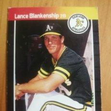 Coleccionismo deportivo: CROMO - NÚMERO 621 - MLB - LIGA MAYOR DE BEISBOL - DONRUSS, AÑO 1989 - LANCE BLANKENSHIP. Lote 278639228