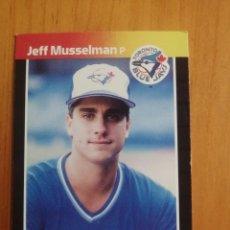 Coleccionismo deportivo: CROMO - NÚMERO 656 - MLB - LIGA MAYOR DE BEISBOL - DONRUSS, AÑO 1989 - JEFF MUSSELMAN. Lote 278639353