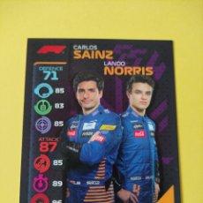 Coleccionismo deportivo: 33 - SAINZ Y NORRIS TEAM DUO - MCLAREN - TOPPS FORMULA 1 2020. Lote 279363058