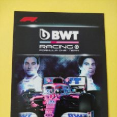 Coleccionismo deportivo: 46 - BWT RACING EQUIPO - TOPPS FORMULA 1 2020. Lote 279364348