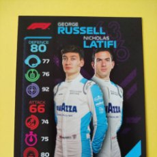 Coleccionismo deportivo: 69 - RUSSELL Y LATIFI TEAM DUO - WILLIAMS RACING - TOPPS FORMULA 1 2020. Lote 279365598