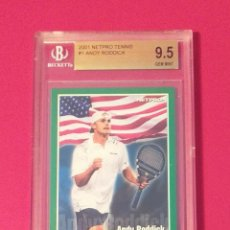Coleccionismo deportivo: CARD ANDY RODDICK 2001 ROOKIE #1 NETPRO TENNIS GRADEADO BECKETT 9.5 GEM MINT. Lote 280965303