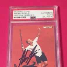 Coleccionismo deportivo: CARD ANDRE AGASSI 2003 #86 NETPRO TENNIS AUTÓGRAFO CERTIFICADO POR PSA. Lote 280970128
