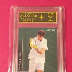 Coleccionismo deportivo: CARD RAFAEL NADAL #77 NETPRO INTERNATIONAL SERIES GRADEADO ASG 10 MINT OR HIGHER. Lote 280970593