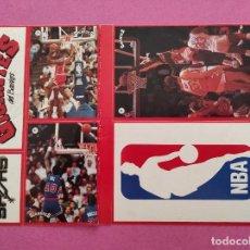 Coleccionismo deportivo: LAMINA 6 PEGATINAS COLECCION REVISTA GIGANTES DEL BASKET CROMOS NBA STICKERS 34 MICHAEL JORDAN BULLS. Lote 282550183