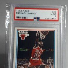 Coleccionismo deportivo: LOTE NBA PANINI MICHAEL JORDAN FLEER 26 PSA 9 + ALL STARS 1989 + 5 CARDS. Lote 284310628