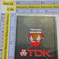 Coleccionismo deportivo: CROMO DE DEPORTES. BALONCESTO BASKET PANINI ACB 91 1991. 27 TDK MANRESA. Lote 286804003