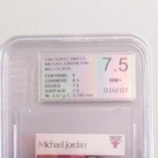 Coleccionismo deportivo: MICHAEL JORDAN 1986 SUPER CANASTA EUROPEAN GRADING 7.5. Lote 287103868