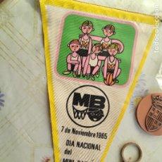 Coleccionismo deportivo: LOTE BANDERIN INSIGNIAS MINI BÁSQUET BALONCESTO. Lote 288205558