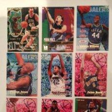 Coleccionismo deportivo: LOTE DE 9 CROMOS BASKET. NBA FLEER 95-96. IMPRESOS EN U. S. A. Lote 288302528