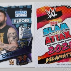 Coleccionismo deportivo: TOPPS SLAM ATTAX 2021. N° 262 KEVIN OWENS.. Lote 288641188